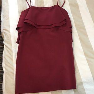 Asos berry party dress